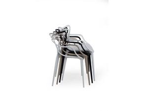 Sedia con braccioli Art.794 star - bianca Esprit nouveau in Offerta Outlet