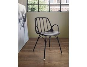 Sedia con braccioli Ciak grigio Artigianale a prezzo Outlet