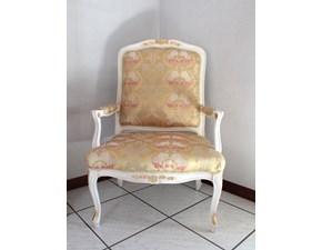 Sedia con braccioli Francese Artigianale a prezzo ribassato