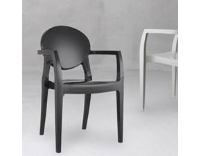 Sedia con braccioli Igloo antracite Scab a prezzo Outlet