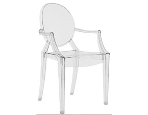 Sedia con braccioli Louis ghost Kartell in Offerta Outlet