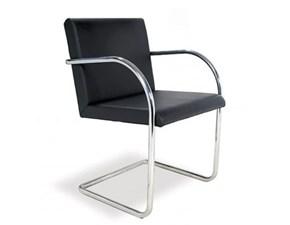 Sedia con braccioli Mies van chair made in italy Artigianale a prezzo Outlet