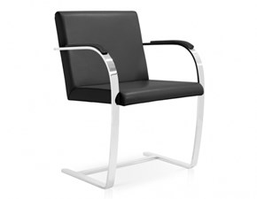 Sedia con braccioli Mies van chair made in italy Sigerico in Offerta Outlet