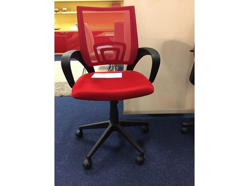 Sedia da ufficio con braccioli di julia in offerta outlet for Outlet sedie ufficio