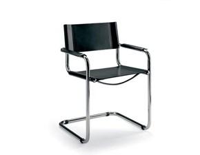 Sedia con braccioli Stam made in italy Artigianale a prezzo Outlet