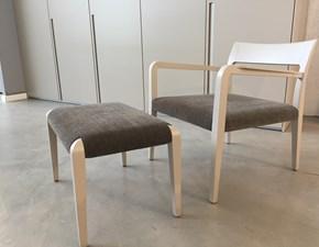 Sedia con poggiapiedi Flip Poliform laccato opaco corda a prezzo outlet