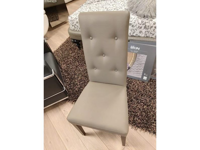 Sedia con schienale alto Gertrude Colombini a prezzo Outlet