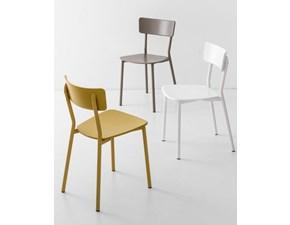 Sedia con schienale alto Jelly metal Connubia a prezzo Outlet