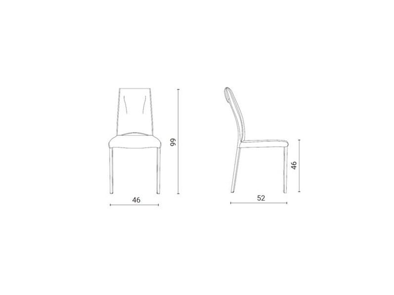 Sedia con schienale alto Luxy Ozzio a prezzo Outlet