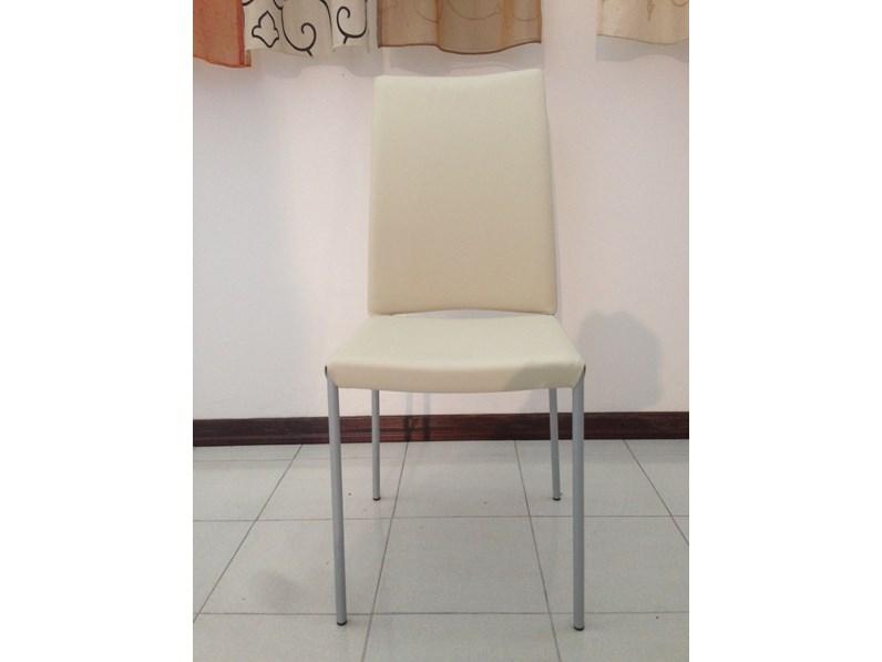 Sedia con schienale alto Pelle Tonin casa in Offerta Outlet