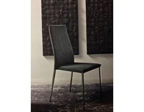 Sedia con schienale alto Tai - eco pelle antracite  Bontempi casa a prezzo ribassato