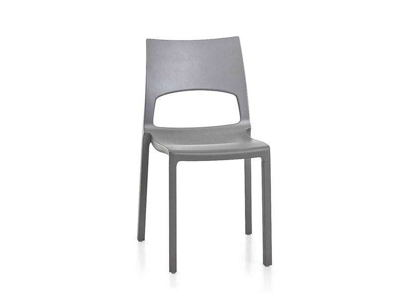Sedia con schienale basso idole bonaldo in offerta outlet for Sedie basso prezzo