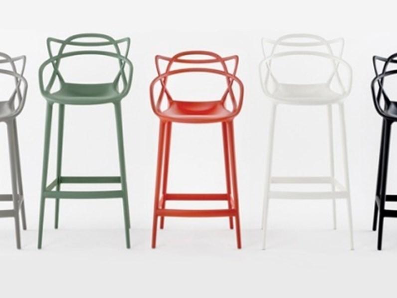 Sedia con schienale basso maters stool di kartell a prezzo for Sedie a basso prezzo