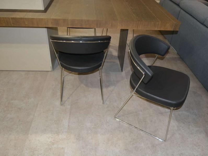 Sedia con schienale basso new york connubia a prezzo outlet for Sedie basso prezzo