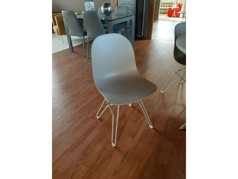 sedia con schienale basso sedia academy calligaris a