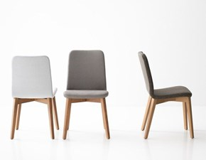 Sedia con schienale medio Cloe 5 Artigianale in Offerta Outlet