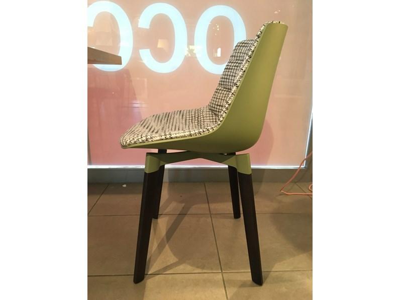 Sedia Con Schienale Medio Flow Chair Color Mdf Mdf In Offerta Outlet