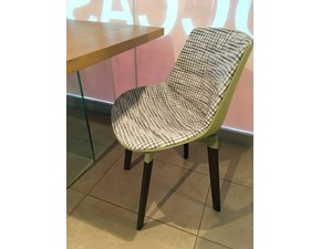 Sedia con schienale medio Flow chair color mdf Mdf in Offerta Outlet