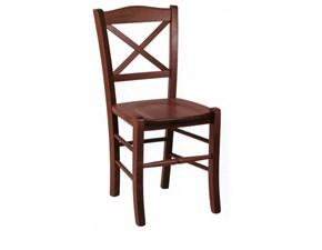 Sedia con schienale medio Matilde Artigianale in Offerta Outlet