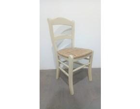 Sedia con schienale medio Sedia impagliata  Lube cucine a prezzo scontato