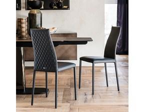Sedia con schienale medio Sedia kay couture Cattelan italia a prezzo ribassato