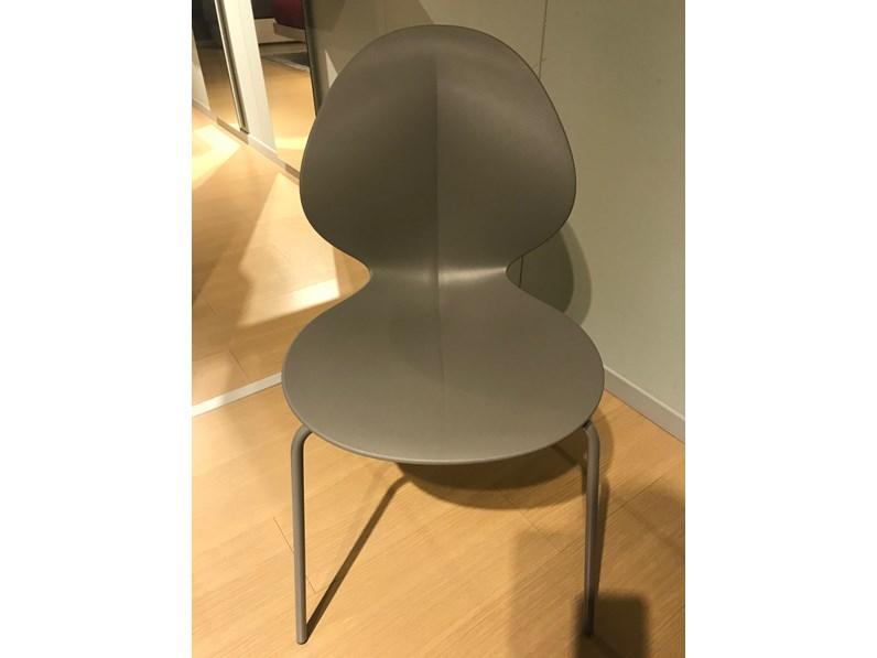 Sedia con schienale medio tortora calligaris a prezzo scontato for Sedie design tortora
