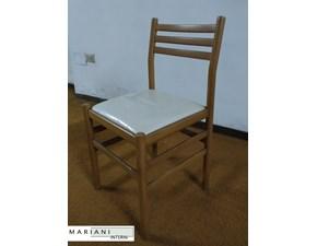 Sedia con schienale medio Wood Artigianale a prezzo scontato