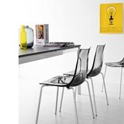 Sedia Connubia modello Led. Sedia con struttura in metallo e con sedile e schienale monoscocca in tecnopolimero San.