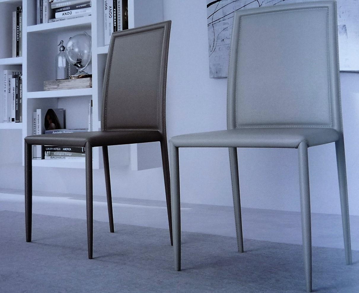 Sedia da cucina di zamagna modello spell in ecocuoio for Modelli sedie da cucina