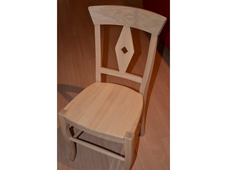 Sedia da cucina Begonia in legno di Lube Cucine a prezzo Outlet