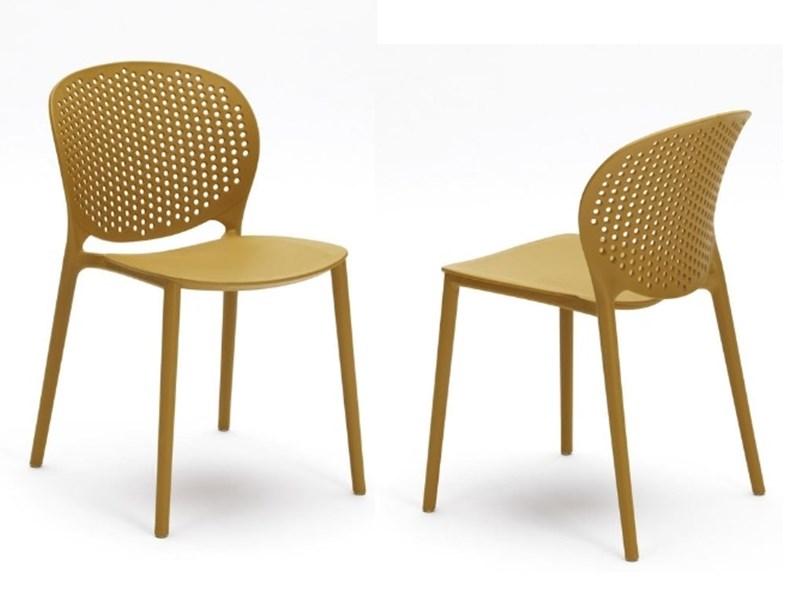 Sedie Da Giardino Firenze.Sedia Da Esterno Ed Interno Design 5 Colori