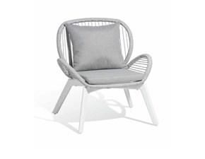 Sedia da giardino Da esterno poltrona corda alluminio  Md work a prezzo scontato