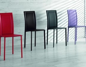 Sedie In Ecopelle Colorate.Sedia Senza Braccioli Kay Couture Cattelan A Prezzo Outlet