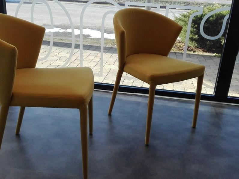 Sedia da soggiorno Amelie imbottita Calligaris SCONTATA