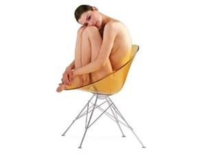 Sedia da soggiorno Eros s Kartell a prezzo scontato