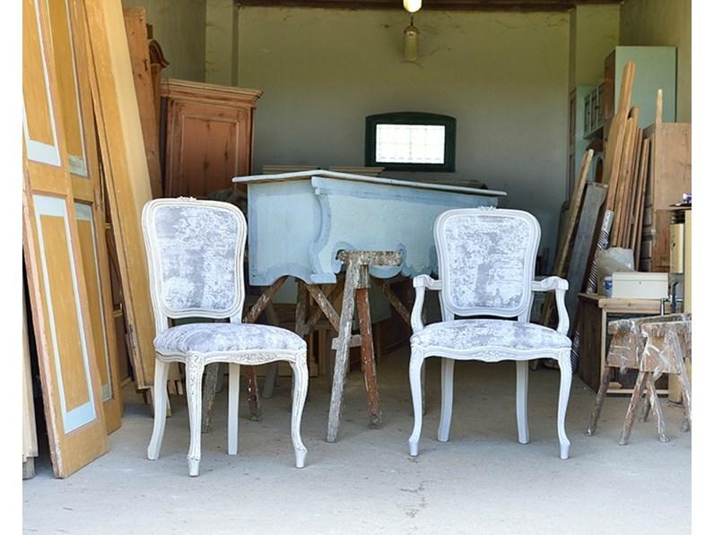 Sedia da soggiorno modello brianzola artigianale scontata for Sedie importanti