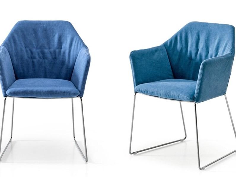 Sedia da soggiorno new york chair saba salotti a prezzo outlet for Soggiorno new york
