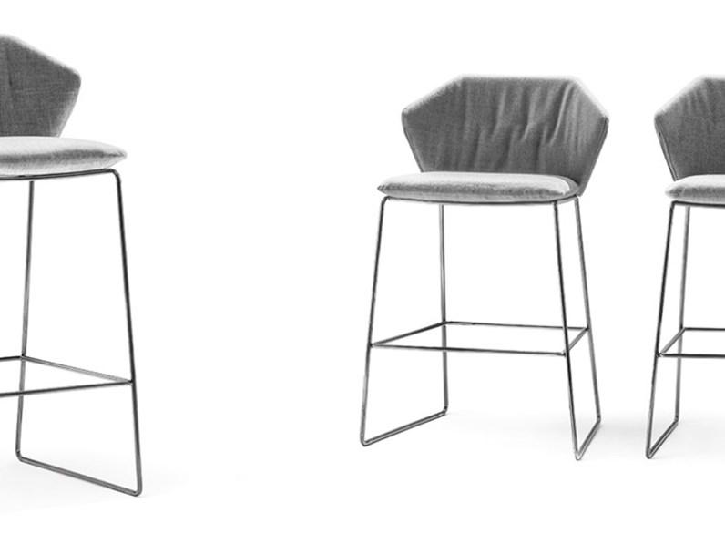 Sedia da soggiorno new york stool saba salotti scontata for Soggiorno new york