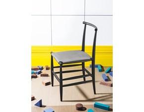 Sedia da soggiorno Pelleossa Miniforms a prezzo Outlet