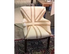 Sedia da soggiorno Poltrona db003549 Dialma brown in Offerta Outlet