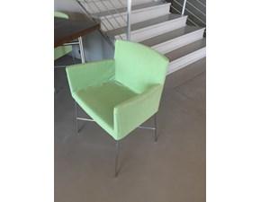 Sedia da soggiorno Poltroncine crosssoft trio  verde Cappellini in Offerta Outlet