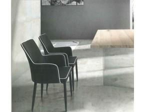 Sedia da soggiorno Atelier in ecopelle Artigianale a prezzo scontato