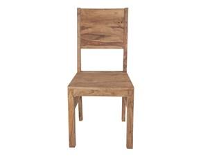 Sedia da soggiorno Sedia davos etno legno Outlet etnico a prezzo scontato