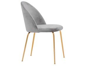 Sedia da soggiorno Sedia luxury velluto 6 colori  Md work SCONTATA