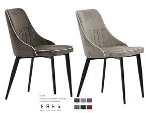 Sedia da soggiorno Snella in tessuto Artigianale a prezzo Outlet