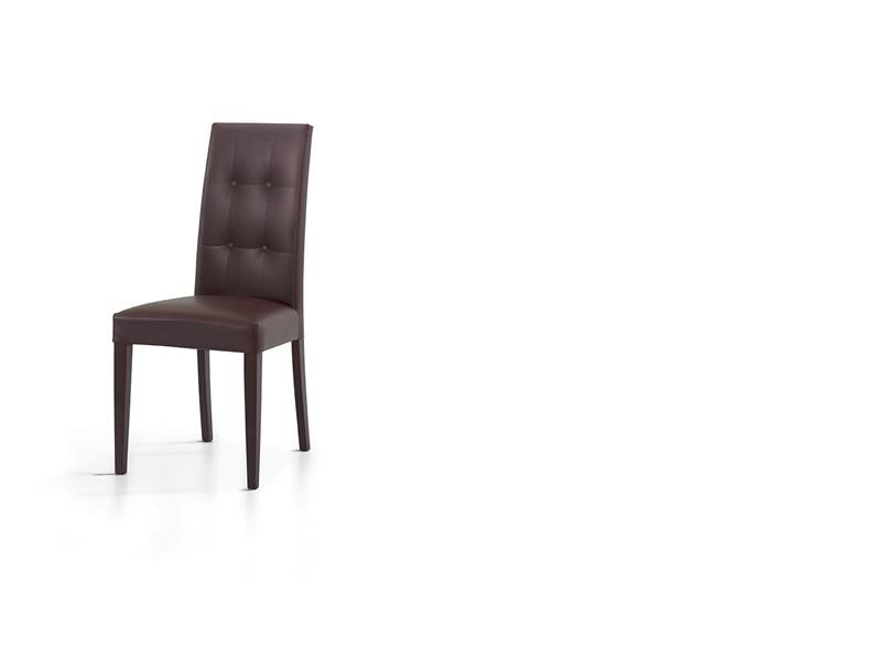 Sedia verona ecopelle design for Sedie da soggiorno design