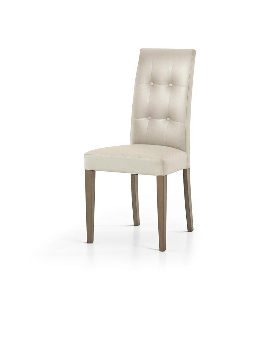 Sedia verona ecopelle design sedie a prezzi scontati for Sedie da soggiorno in pelle