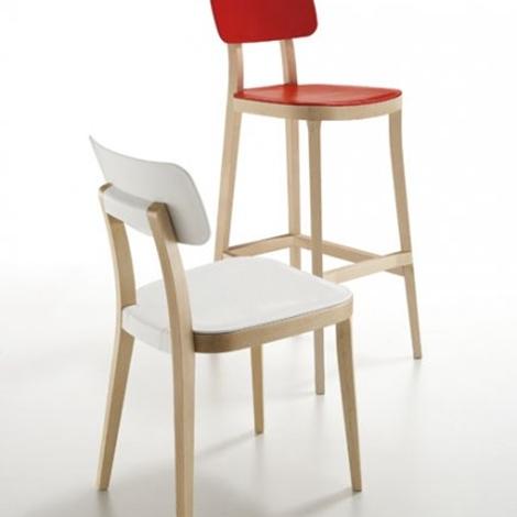 sedia design porta venezia di infiniti in faggio naturale