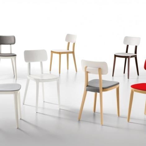 sedia design porta venezia di infiniti in faggio naturale e