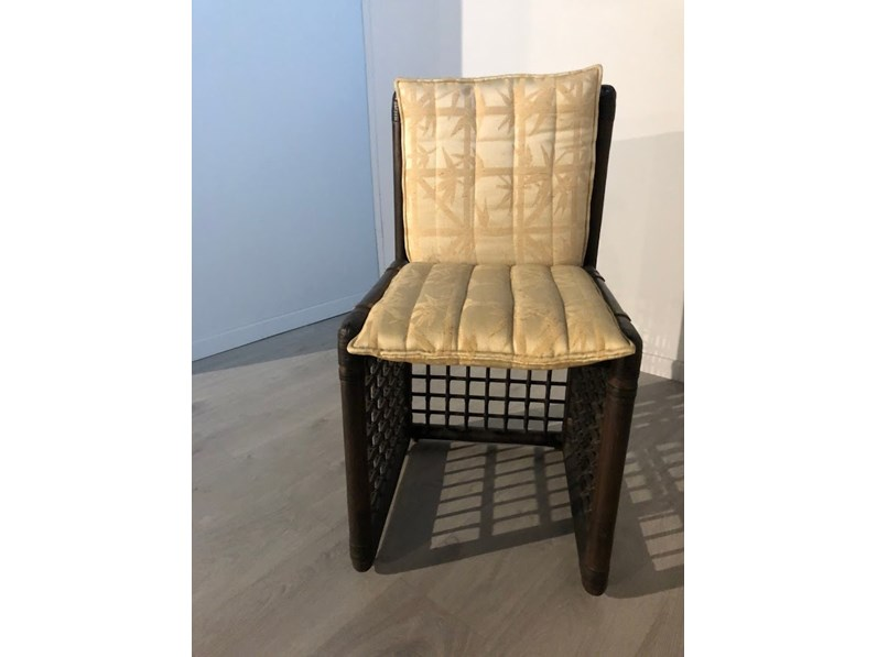 sedia di b b rattan prezzi outlet. Black Bedroom Furniture Sets. Home Design Ideas